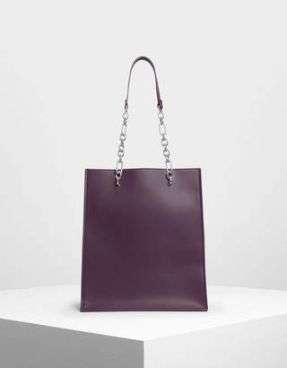 Charles & Keith Chain Strap Handle Tote Bag