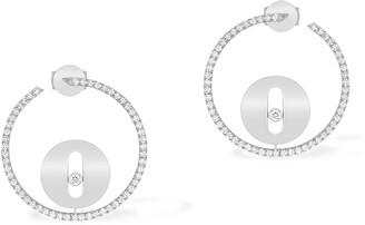 Messika Lucky Move Pave Diamond Hoop Earrings
