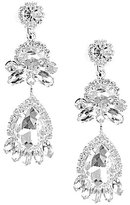 Cezanne Floral Links Clip-On Drop Earrings