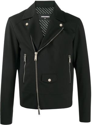 DSQUARED2 Zipped Biker Jacket