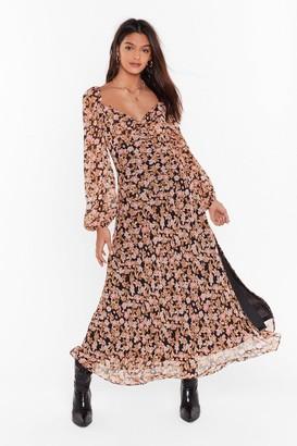 Nasty Gal Womens Nothin' Bud Love Floral Maxi Dress - Black