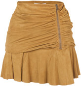 Veronica Beard gathered effect skirt - women - Leather - 2