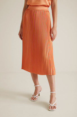 Seed Heritage Pleat Midi Skirt