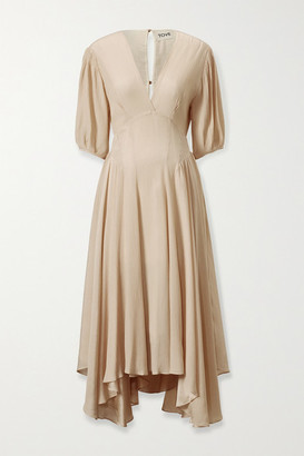 TOVE Veda Silk-crepon Midi Dress - Ecru