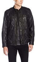 Lucky Brand Men's Manx Leather Jacket in Black