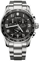 Victorinox 241650 Classic Xls Chronograph Bracelet Strap Watch, Silver/black
