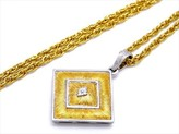 Buccellati Federico 18K Yellow Gold & White Gold Pendant Necklace