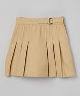 Beverly Hills Polo Club Khaki Pleated Skirt - Girls
