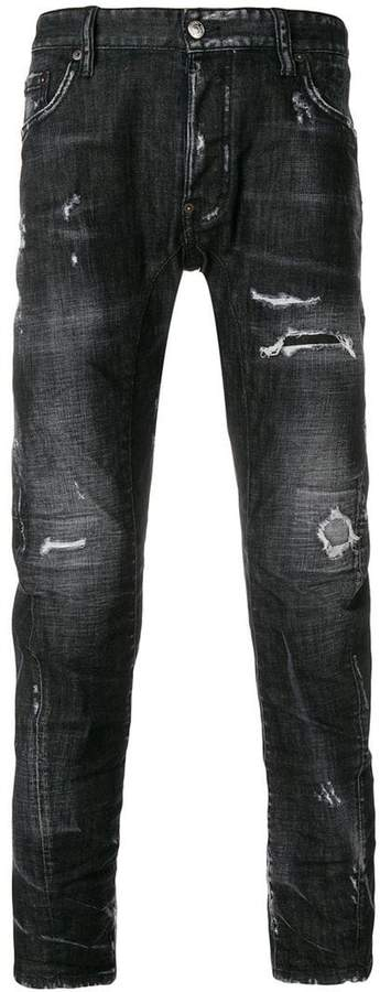 DSQUARED2 Tidy Biker distressed jeans