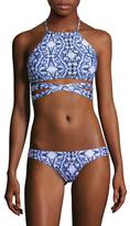 L-Space Lizzie Wrap Printed Bikini Top