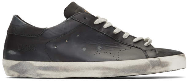 Golden Goose Black Skate Superstar Sneakers