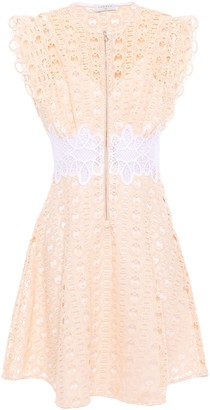 Sandro Kamel Flared Guipure Lace Mini Dress