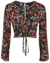 Topshop Midnight floral corset top