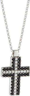 Roberto Coin 18k White Gold Black Sapphire Cross Necklace w/ Diamonds