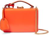 Mark Cross Grace Mini Glossed-leather Shoulder Bag - Bright orange