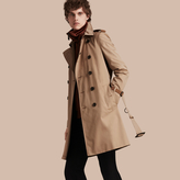 Burberry Leather-trimmed Cotton Trench Coat