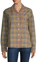 Burberry Check Pajama Shirt