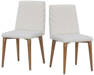 Manhattan Comfort Utopia Mid Century Upholstered Dining Room Chair Set of 2