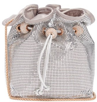 Sophia Webster Emmie Crystal-embellished Chainmail Bucket Bag - Womens - Silver