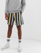 Asos Design DESIGN slim shorts in washed stripe