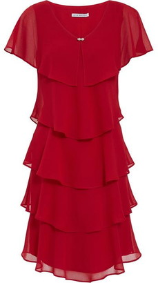 Gina Bacconi Lona Tiered Dress