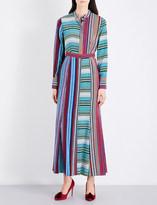 Diane von Furstenberg Striped silk-crepe shirt dress
