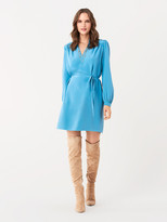Diane von Furstenberg Glenda Silk Crepe de Chine Shirt Dress