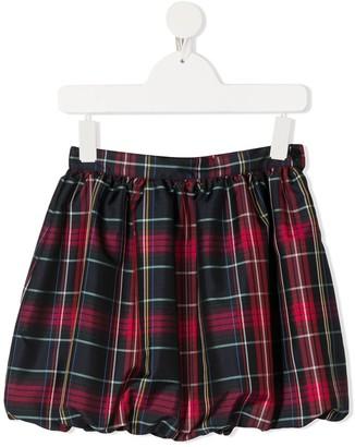 Il Gufo Tartan-Print Mini Skirt