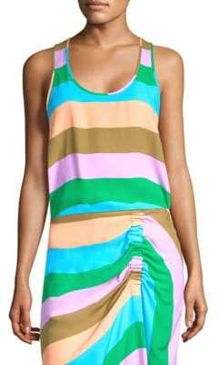 Tibi Sleeveless Stripe Tank