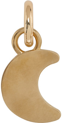 Laura Lombardi SSENSE Exclusive Gold Moon Collar Charm