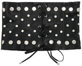 Understated Leather Ultimate for FWRD Studded Leather Lace-Up Corset Belt