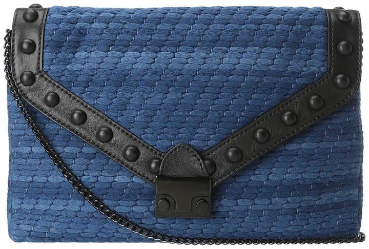 Loeffler Randall Lock Clutch MKN (Denim/Black) - Bags and Luggage