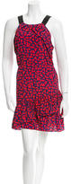 Sandro Sleeveless Abstract Print Dress