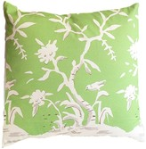 The Well Appointed House Dana Gibson Cliveden Square Chinoiserie Pillow with Bird in Green
