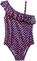Osh Kosh 1-Pc. Tulip-Print Ruffle Swimsuit, Little Girls (2-6X)