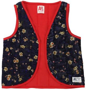 American Outfitters Light Padded Velvet Kimono Vest