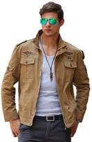Chickle Men's Outdoor Leisure Army Style Bomber Jacket