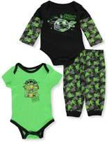 "Teenage Mutant Ninja Turtles TMNT Baby Boys' ""Turtles in Training"" 3-Piece Layette Set"