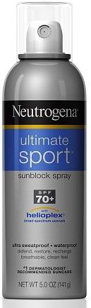 Neutrogena Ultimate Sport Sunscreen Spray, SPF 70+