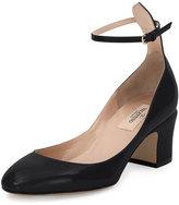 Valentino Tango Patent Ankle-Wrap Pump, Black