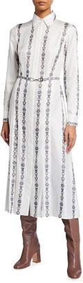 Gabriela Hearst Jane Floral Belted Silk Shirtdress