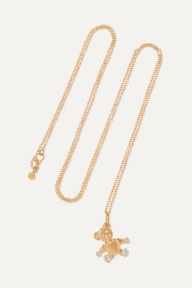 Pomellato Orsetto Medium 18-karat Rose Gold Diamond Necklace