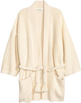 H&M Stocking-stitch Cardigan - Natural white - Ladies
