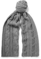 Loro Piana Cable-Knit Baby Cashmere Scarf