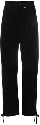 Acne Studios suede loose fit trousers
