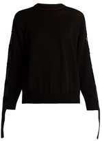 Toga Open-back cotton-blend sweater
