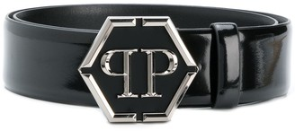 Philipp Plein Logo Buckle Belt