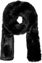 Carven Women's Long Fur Scarf Black