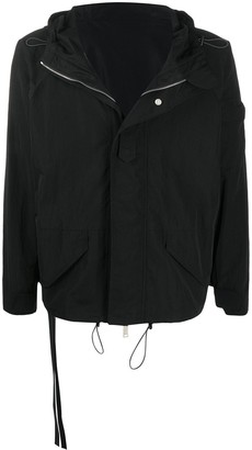 Unravel Project Concealed-Fastening Hooded Jacket