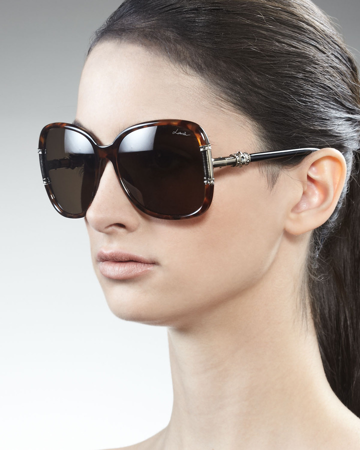 Lanvin Square Havana Sunglasses